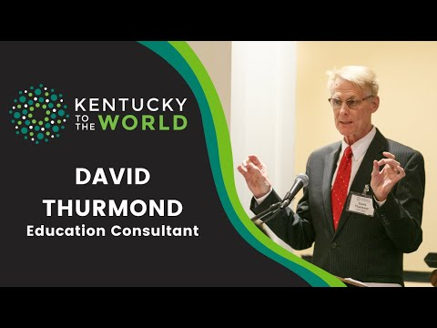Kentucky To The World Education Consultant David Thurmond