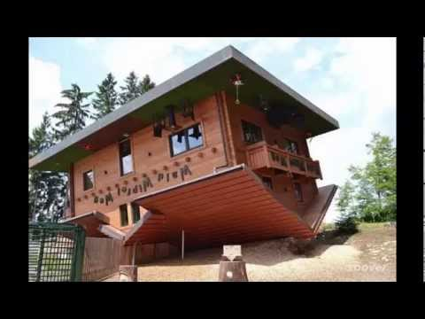 unik kumpulan rumah terbalik di dunia upside down house