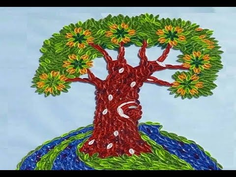 paper quilling how to make beautiful quilling tree part 1 rh youtube com