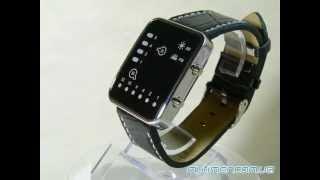 Бинарные наручные часы с кожаным ремешком MyTimer.com.ua(Описание: Нажмите кнопку дисплея на правой стороне часов и на экране загорятся индикаторы. В режиме часов,..., 2012-04-09T08:14:36.000Z)