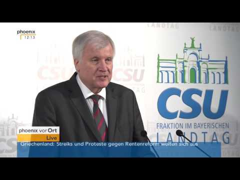 Wildbad Kreuth: Abschluss-PK der CSU-Landtagsfraktion u.a. mit Horst Seehofer am 21.01.2016
