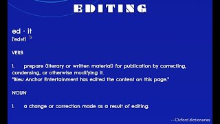 Bleu Anchor Entertainment Editing/Proofreading Services