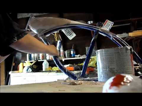 how to fill in a lowrider bike frame without welding part 2 youtube