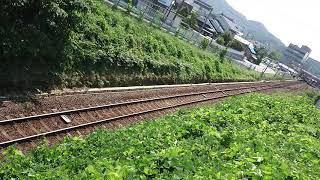 DD51-1802〔迂回貨物列車〕9080レ  大田市駅発車