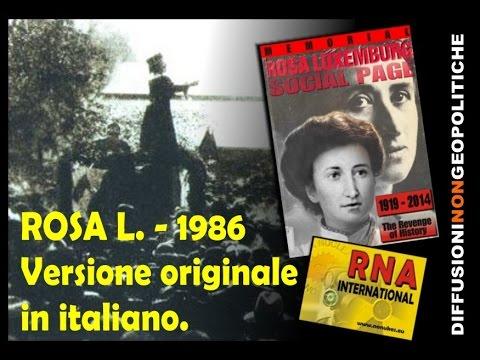 ROSA L. - 1986 - Versione originale in italiano.