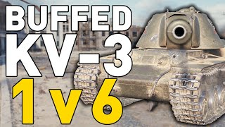 BUFFED KV-3 - 1 v 6 - World of Tanks