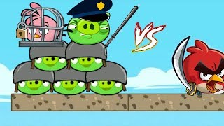 Angry Birds Heroic Rescue - RED BIRDS BEAT THE COP PIGGIES TO TAKE STELLA!