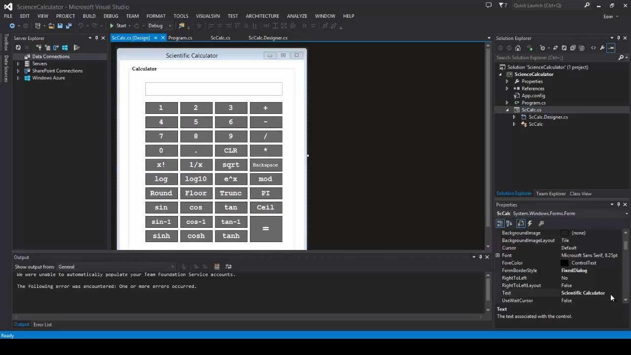 Creating a calculator visual studio c#: 11 steps instructables.