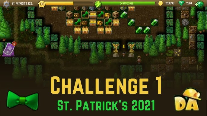 Diggy Revolution Christmas 2021 Challenge 1 St Patrick S 2021 Diggy S Adventure Youtube