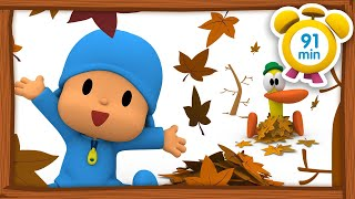 🍁 POCOYO in ENGLISH - First Day of Autumn [ 91 min ] | Full Episodes | VIDEOS and CARTOONS for KIDS