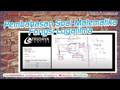 Fungsi Logaritma, Pembahasan Soal Matematika Tentang Fungsi Logaritma