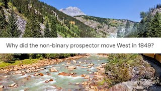 Why did the non-binary ṗrospector move West in 1849?