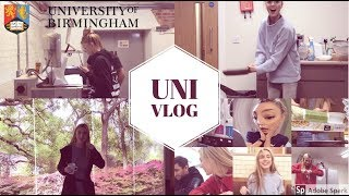 VLOG 1 - A WEEK IN MY LIFE AT THE UNIVERSITY OF BIRMINGHAM | Study/cook/gym&travel with me
