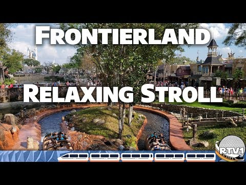 Frontierland Relaxing Stroll in 4K 60fps - Magic Kingdom | Walt Disney World - 2-23-19