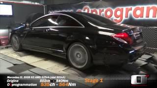 Mercedes CL 63 AMG 525ch reprogrammation moteur 502(réel)@534ch