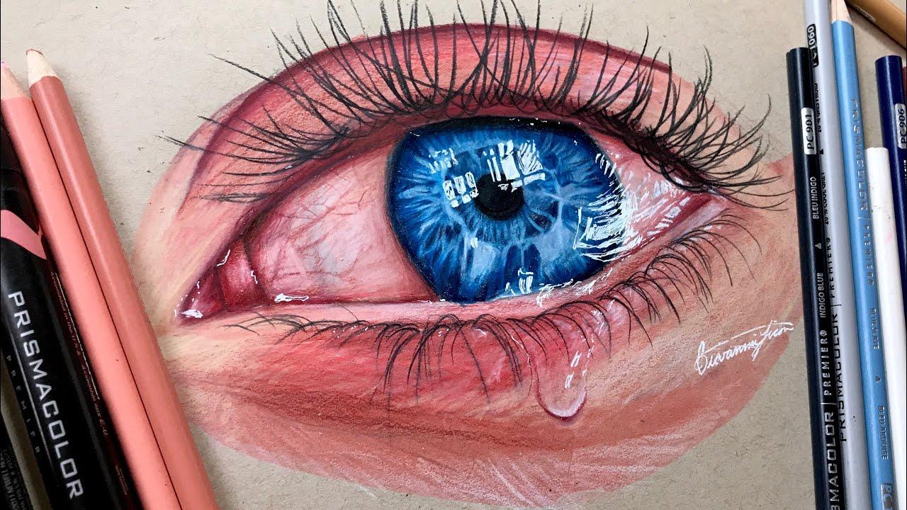 Realistic Crying Eye Drawing