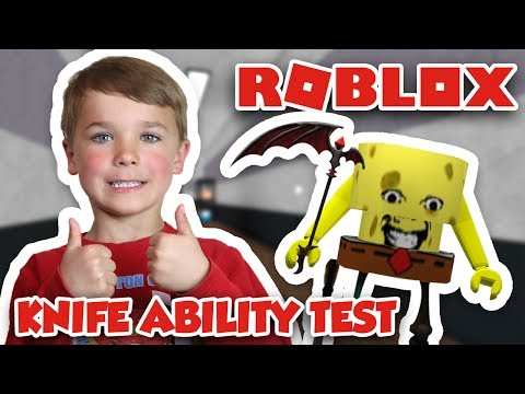 ROBLOX KNIFE ABILITY TEST | I AM SPONGEBOB