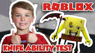 ROBLOX KNIFE ABILITY TEST | I AM SPONGEBOB