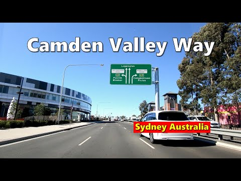 Driving On CAMDEN VALLEY WAY From NARELLAN To LEPPINGTON,  South West Sydney, Australia 2019