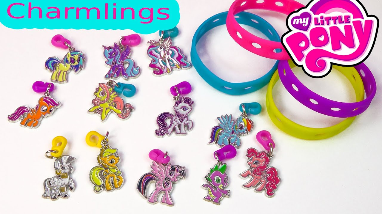 My Little Pony Charmlings And Bracelet Mlp Pop On Charms