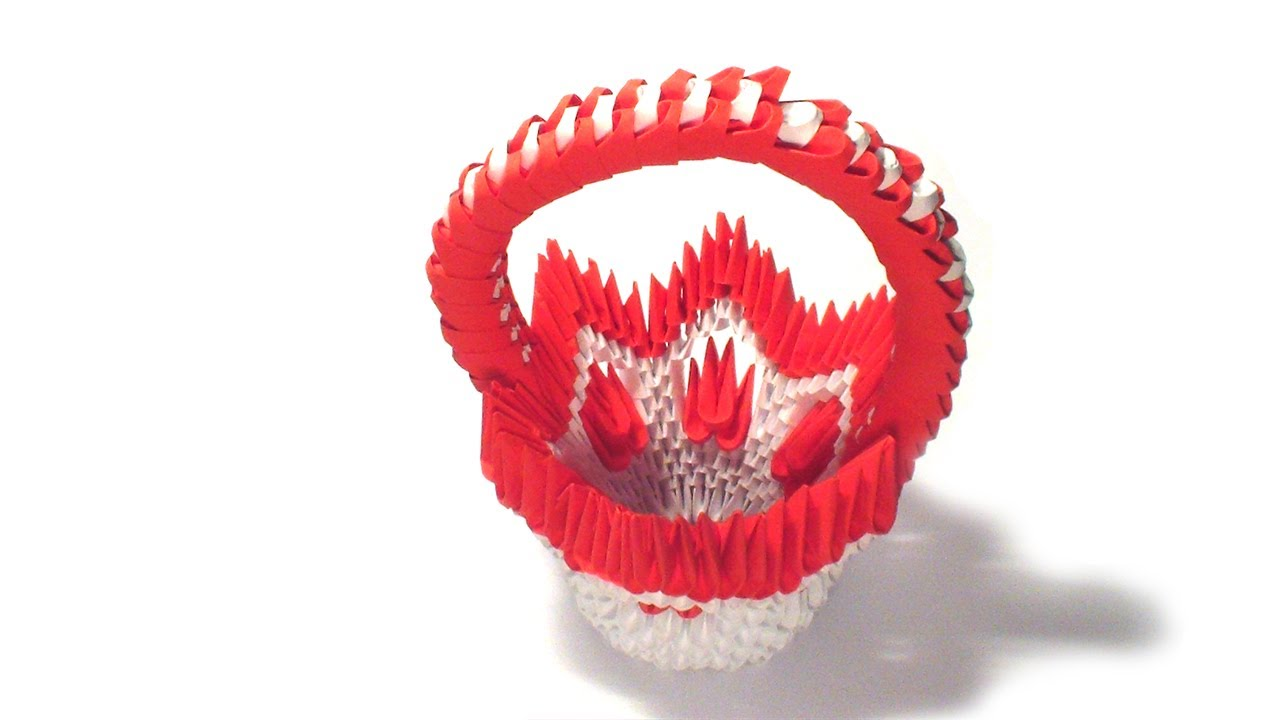 Youtube 3d Origami Flower Basket Tutorial