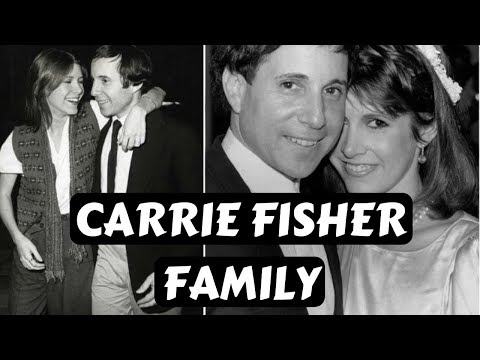 Actress Carrie Fisher Family Photos With Ex Husband Paul Simon‎,Partner Bryan Lourd ,Daughter Billie