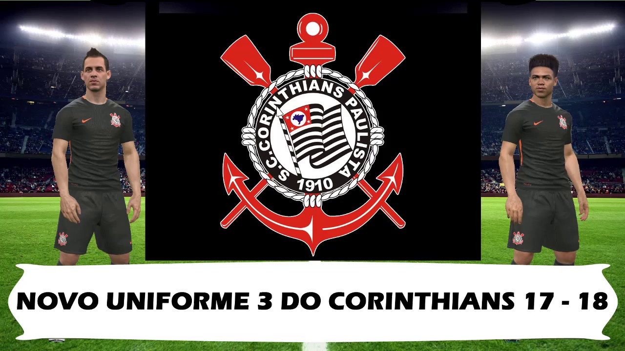 Nova Terceira camisa uniforme 3 do Corinthians 2017-2018 Nike para PES 2017 3f302b5bc8d2c