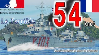WoWS 《Le Terrible》 [世界最高速力の大型駆逐艦]#1