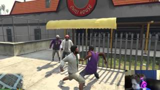WWE MATCH & FLIRTING WITH BABES! GTA V PC SinglePlayer Funny Moments