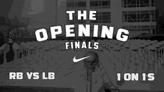 2017 the opening finals rb vs lb 1 on 1s