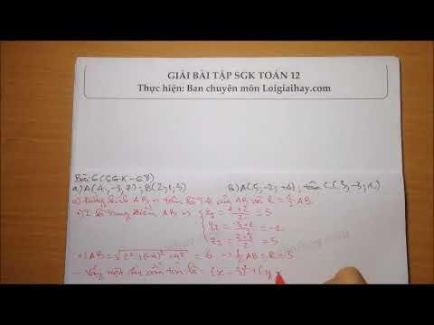 Giải bài tập 6 Trang 68 SGK Hình học 12