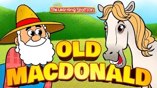 Old MacDonald Had a Farm with Lyrics - Old MacDonald - Farm Animals For Kids by The Learning Station