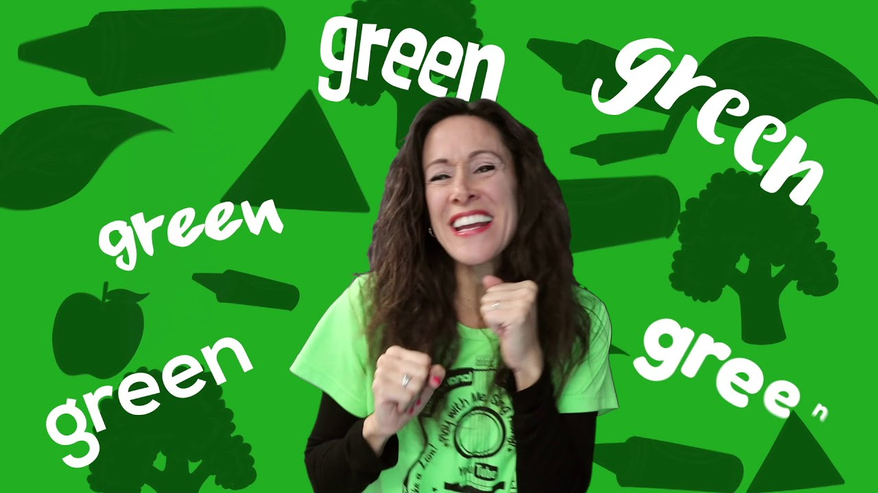 Colors Song for Children | Green Color of the Day by Pattys Primary Songs | Sign Language