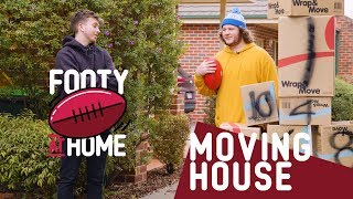 MOVING HOUSE | Footy at Home with Caden and Cookson