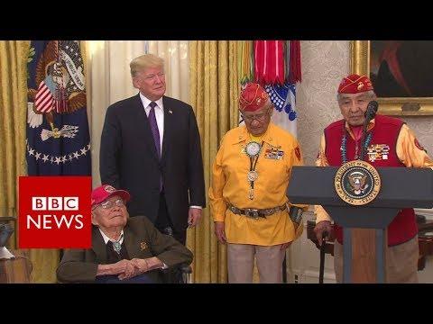Trump drops 'Pocahontas' jibe to Native American veterans - BBC News