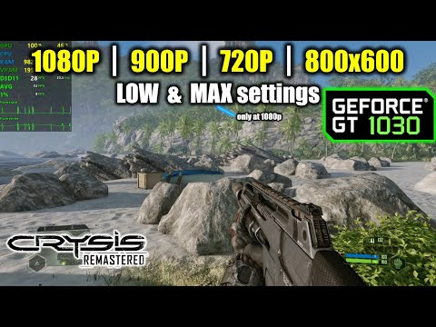GT 1030 | Can It Run Crysis? (Remastered) |