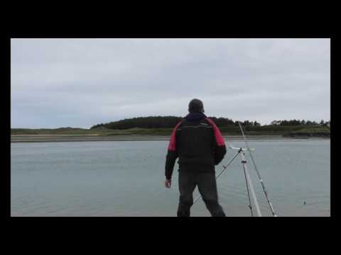 Catching A Flounder Whilst Plaice Fishing On Anglesey, North Wales