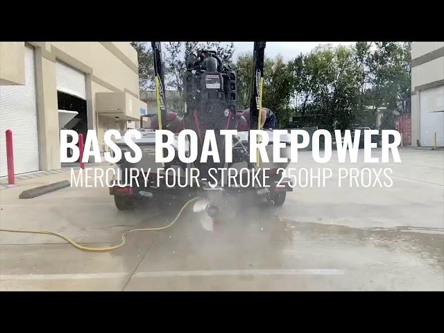 Bass Boat Repower Mercury Pro XS 250HP