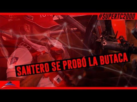 Julián Santero se probó la butaca del Toyota Corolla