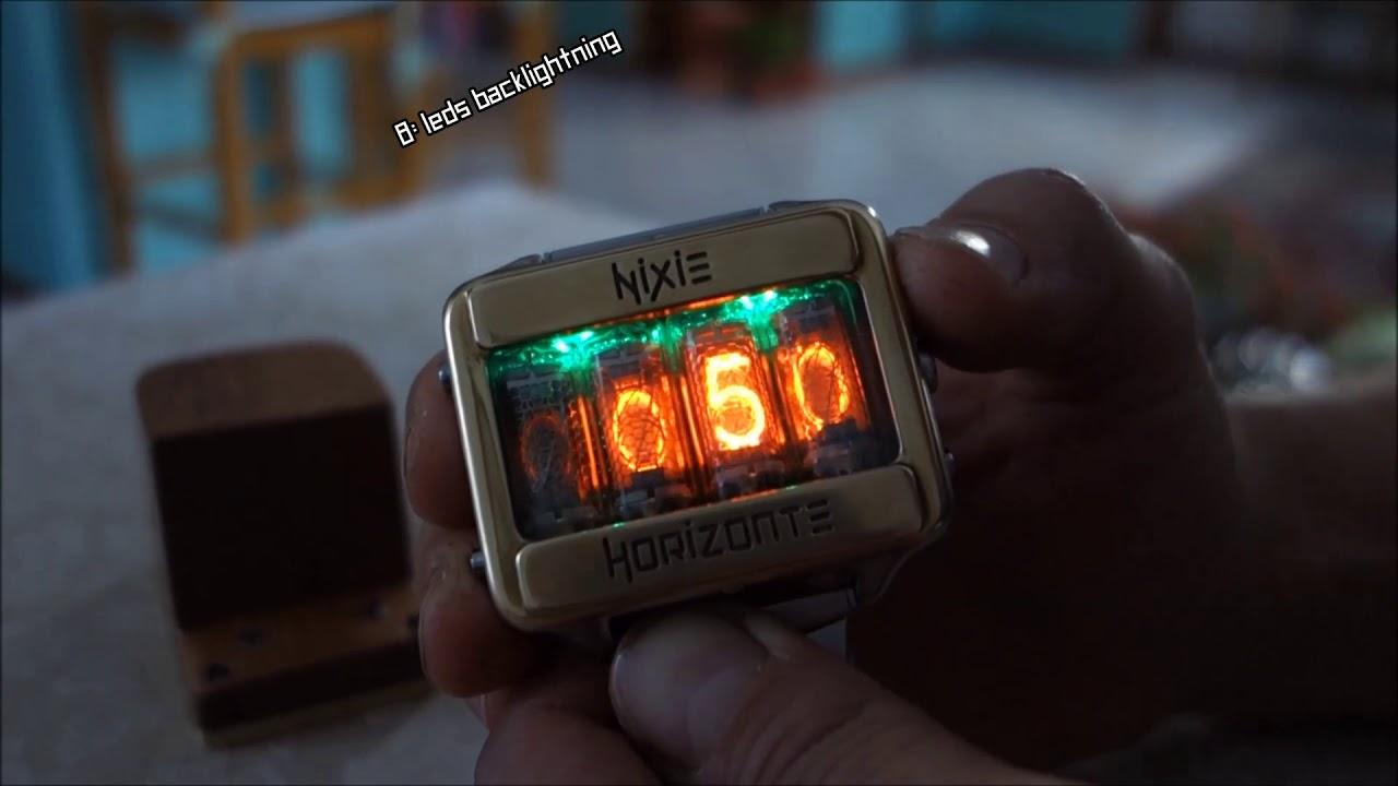 Nixie Horizonte Watch operating Instructions Courtesy Frank Paris
