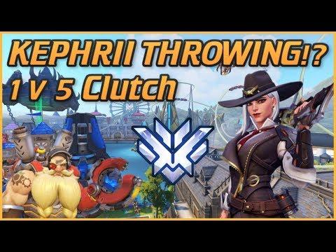 Kephrii Throwing Games!? jk gr HUGE Ashe Clutch (Overwatch Gameplay) thumbnail
