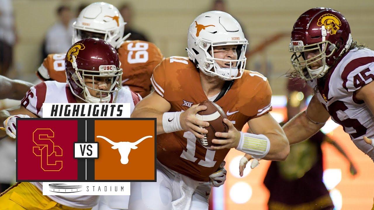 #22 USC vs Texas Football Highlights (2018) | Stadium