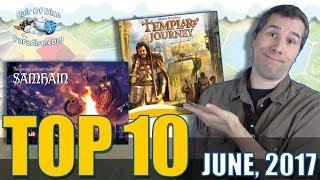 Top 10 most popular board games: June 2017