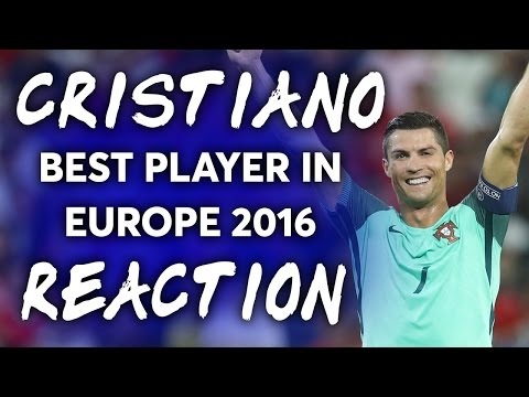 Cristiano Ronaldo, UEFA Best European Player 2016 | REACTION