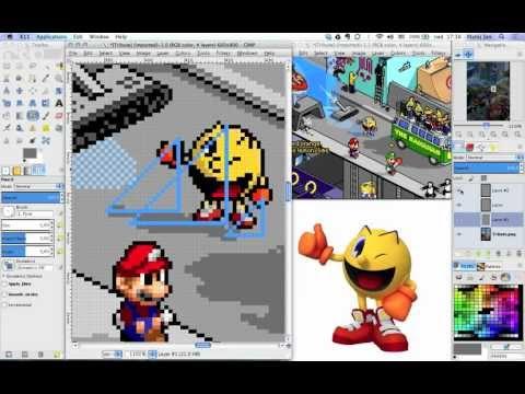 8 bit pixel art gimp