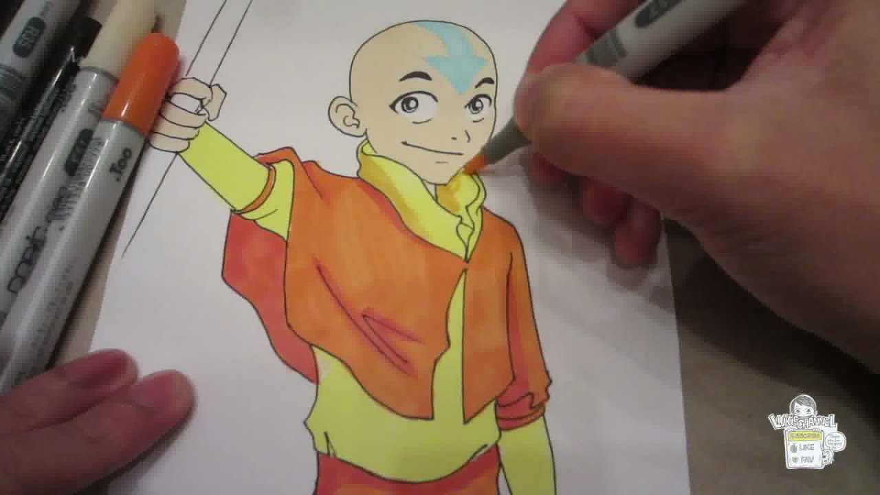 How to draw Aang - YouTube