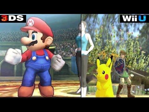 Super Smash Bros 3ds Vs Wiiu Comparison 2 Youtube