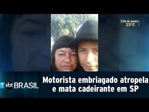Motorista embriagado atropela e mata cadeirante em São Paulo | SBT Brasil (23/07/18)