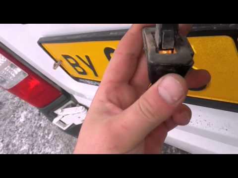 видео: Форд Транзит 2013г. Геморой с освещением номера