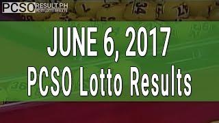 Lotto Result June 6, 2017 (6/58, 6/49, 6/42, 6D, Swertres & EZ2)